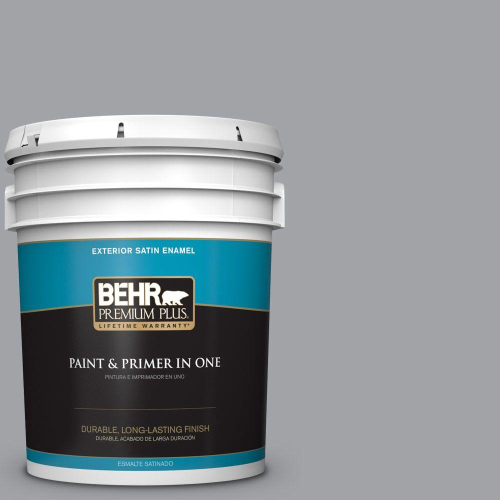 5-gal. #N530-4 Power Gray Satin Enamel Exterior Paint