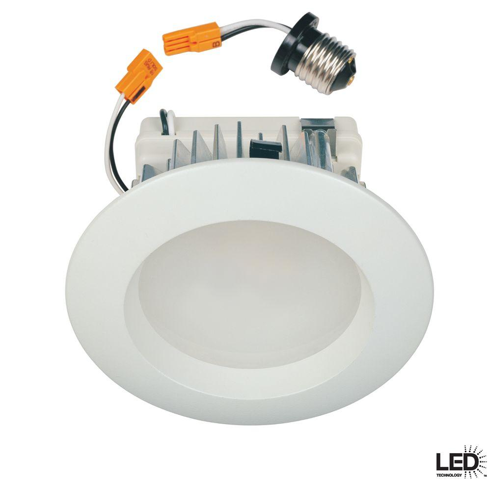 Commercial Electric 4 in. Recessed White LED Retrofit Trim-DISCONTINUED