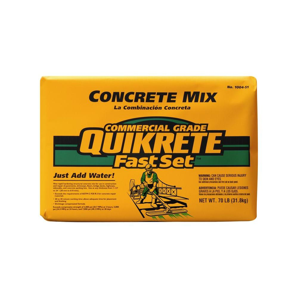 Quikrete 70 Lb Fast Set Concrete Mix 100451 The Home Depot