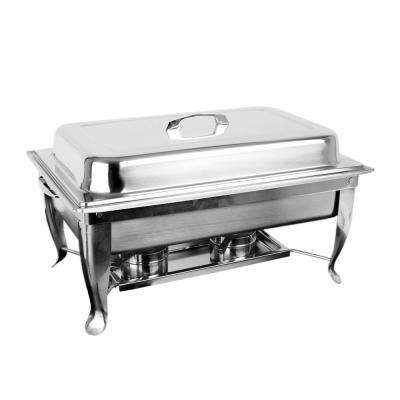 Stainless Steel 8 Qt. Full Size Rectangular Chafer Foldable Frame Set