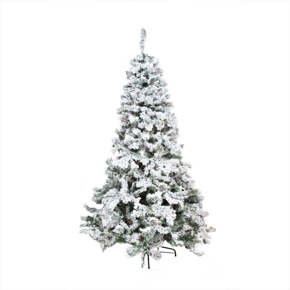 Flocked Christmas Tree: Northlight 9 Ft. Heavily Flocked Pine Medium Artificial