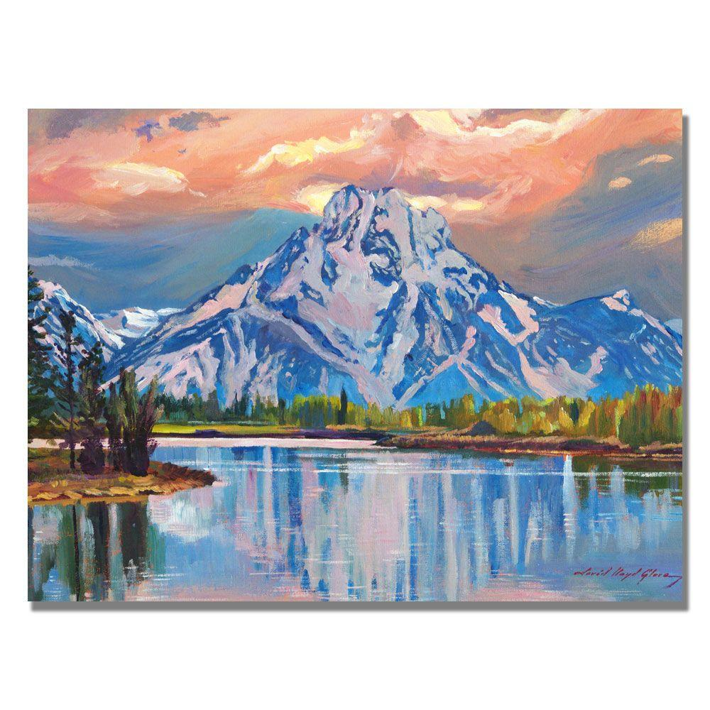 null 35 in. x 47 in. Majestic Blue Mountain Canvas Art