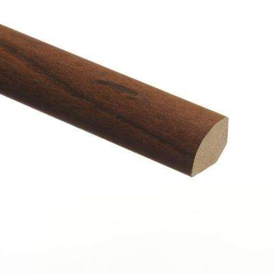 American Walnut 5/8 in. Thick x 3/4 in. Wide x 94 in. Length Vinyl Quarter Round Molding