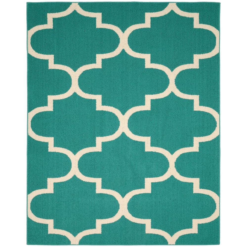 Garland Rug Large Quatrefoil Black White 8 Ft X 10 Area Ll240a09612053 The Home Depot
