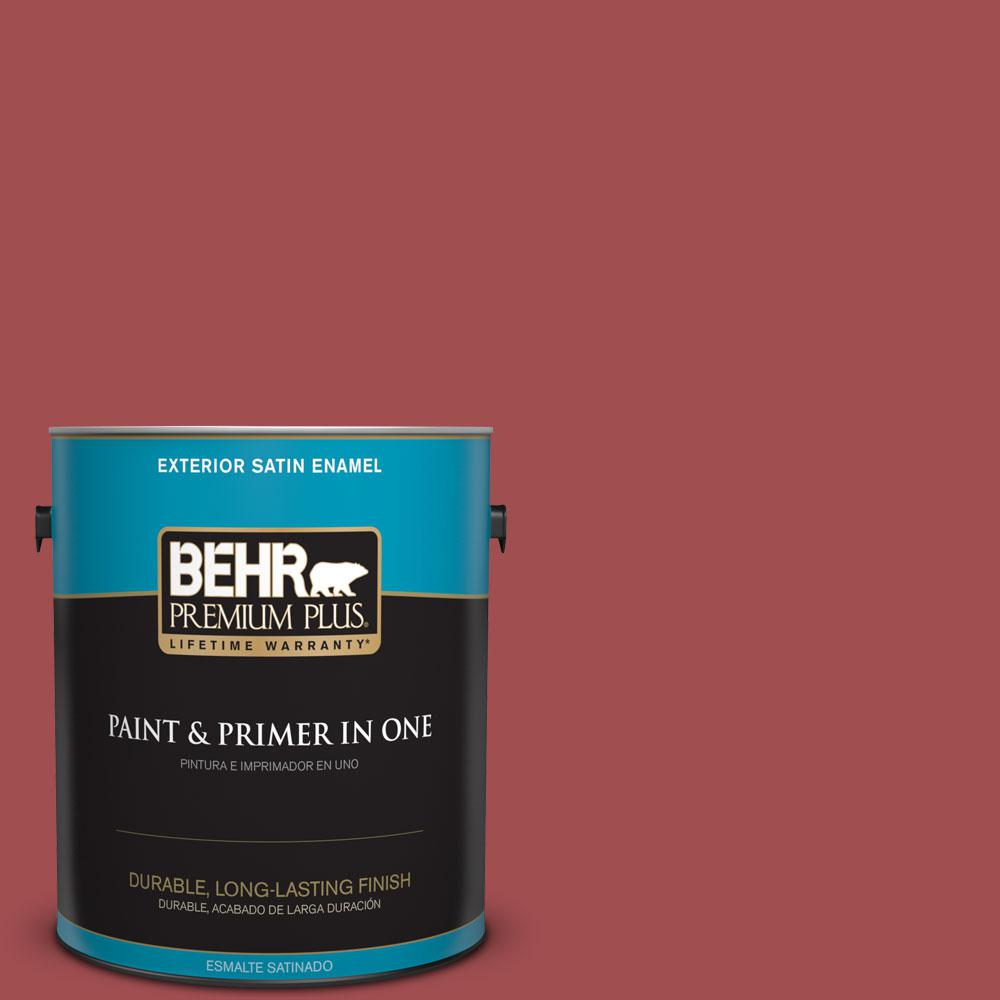 1-gal. #M150-7 Sweet Cherry Satin Enamel Exterior Paint