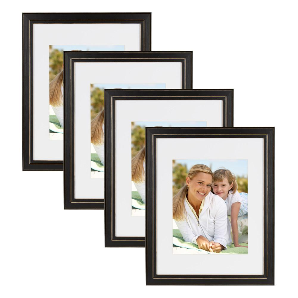 Designovation Kieva 11x14 Matted To 8x10 Black Picture Frame Set Of