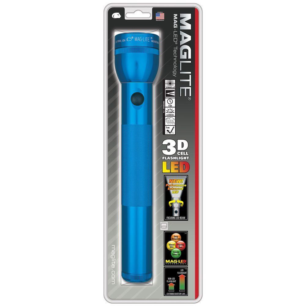 LED 3D Flashlight in Blue