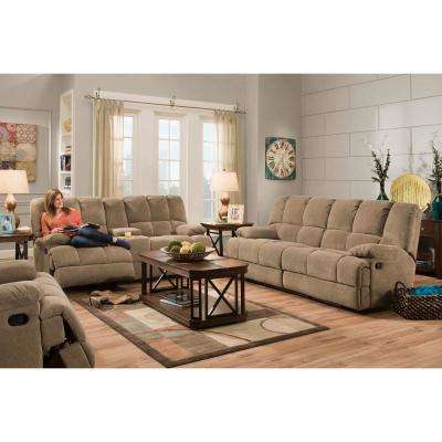 penn 3piece cocoa brown sofa loveseat and