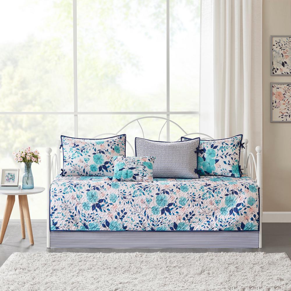 Tiffany 6-Piece Bluel Daybed Bedding Set