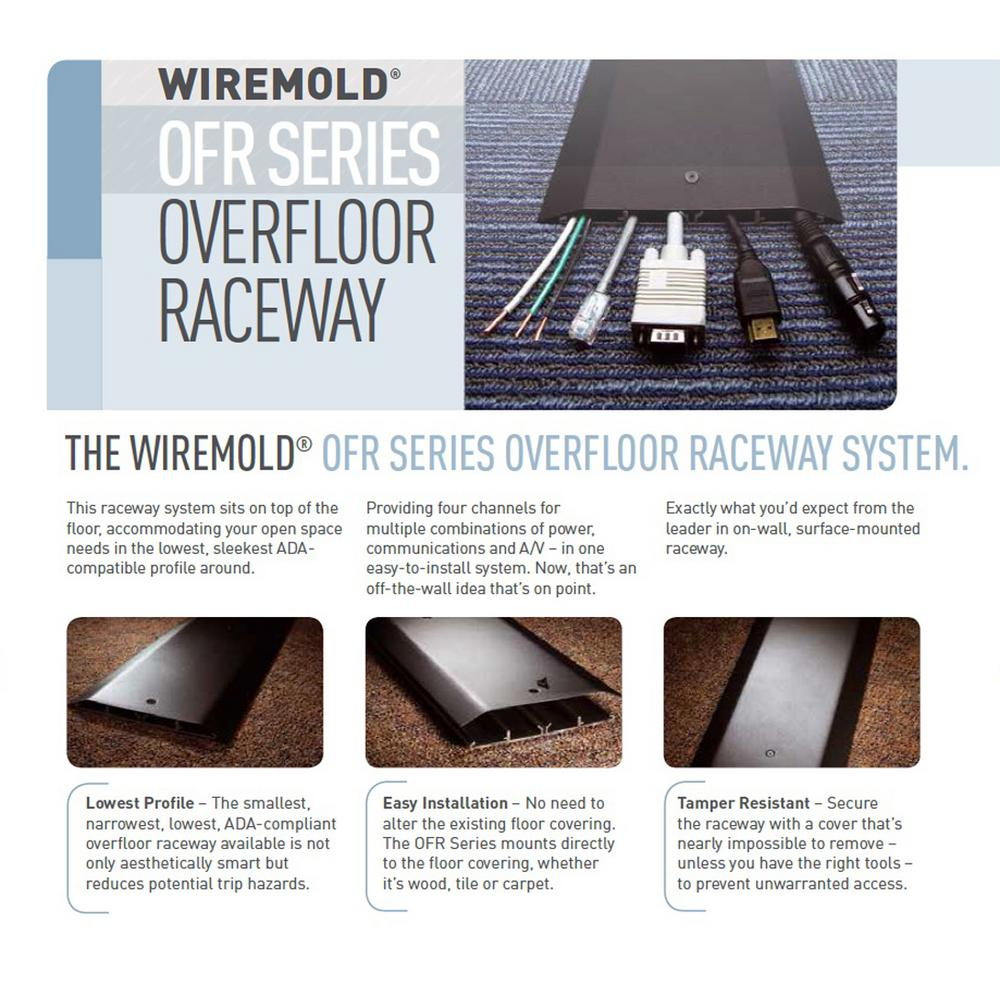 WIREMOLD 8FT OFR RACEWAY BASE/&