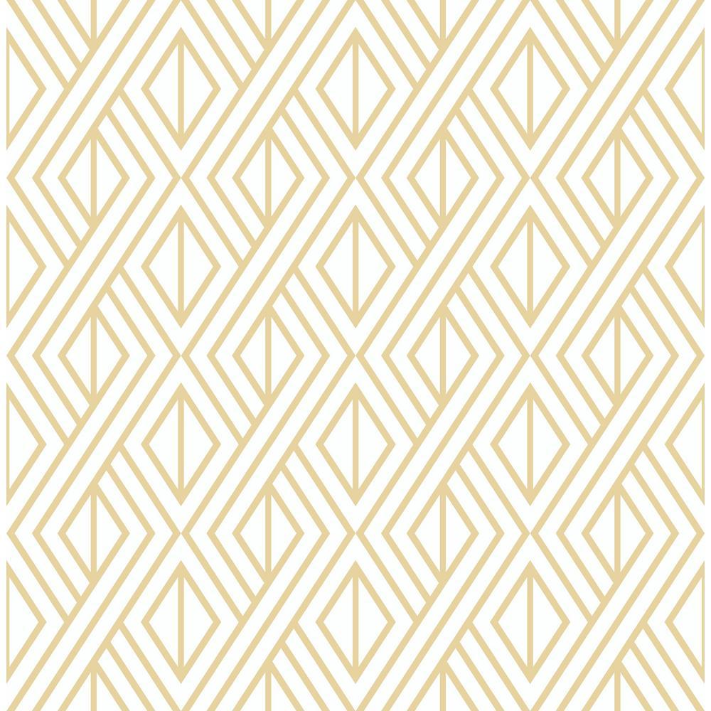 Gold Diamond Geometric Peel and Stick Wallpaper