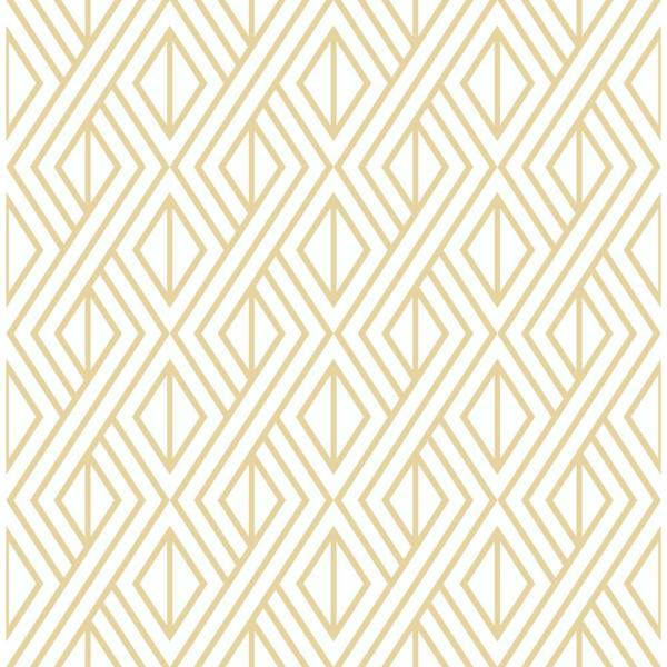 Gold Diamond Geometric Vinyl Peelable Wallpaper (Covers 30.75 sq. ft.)