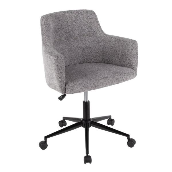 Osp Home Furnishings Megan Mist Fabric Office Chair With