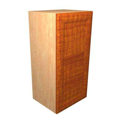 Dolomiti Ready to Assemble 12 x 38 x 12 in. Wall Cabinet with 1 Soft Close Doors in Cognac
