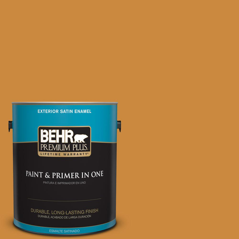 BEHR Premium Plus 1-gal. #PMD-105 Buried Treasure Satin Enamel Exterior Paint