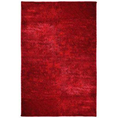 Silk Reflections Red 5 ft. x 8 ft. Area Rug