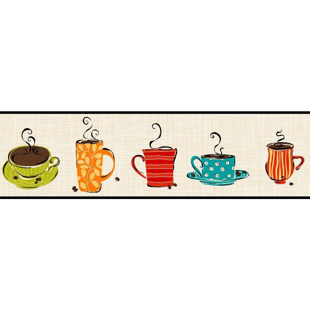 York Wallcoverings Bistro 750 Coffee Mug Wallpaper Border