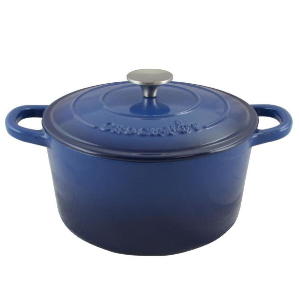 Crock-Pot Artisan 5 Qt. Round Enameled Cast Iron Dutch Oven with Lid