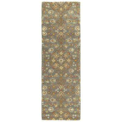 Helena Pewter Green 3 ft. x 8 ft. Runner Rug