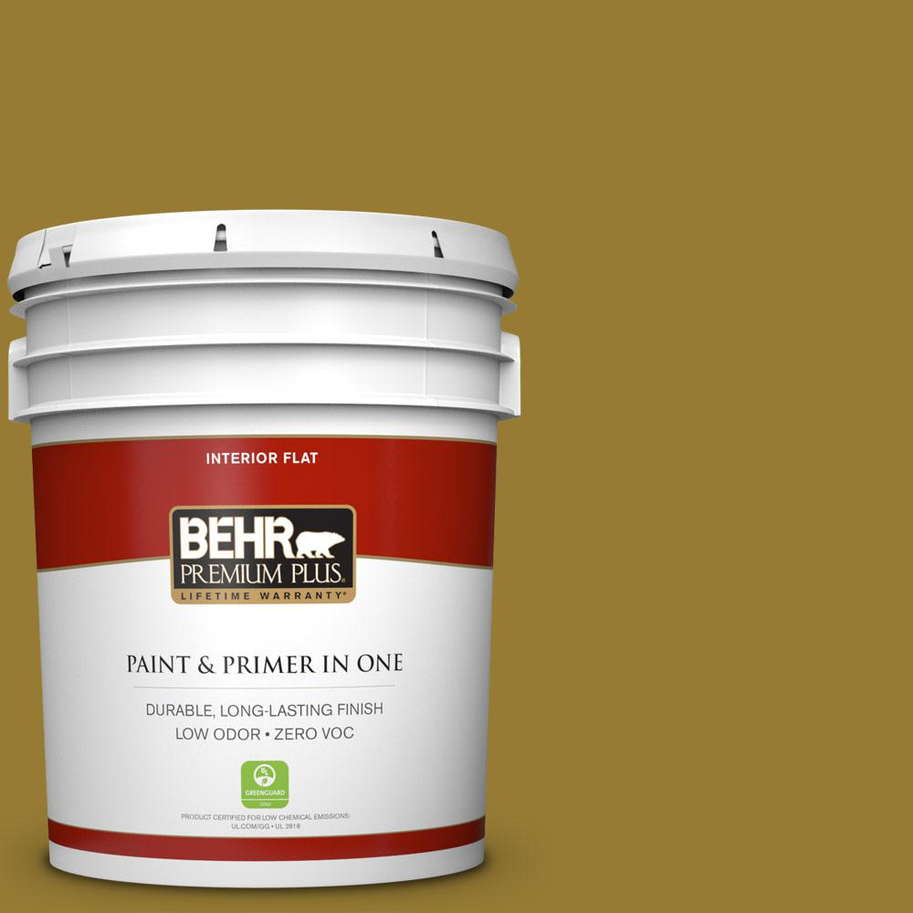 5 gal. #M320-7 Thai Curry Zero VOC Flat Interior Paint