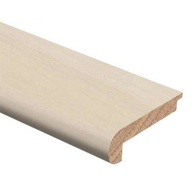 Strand Woven Bamboo White 3/8 in. Thick x 2-3/4 in. Wide x 94 in. Length Hardwood Stair Nose Molding