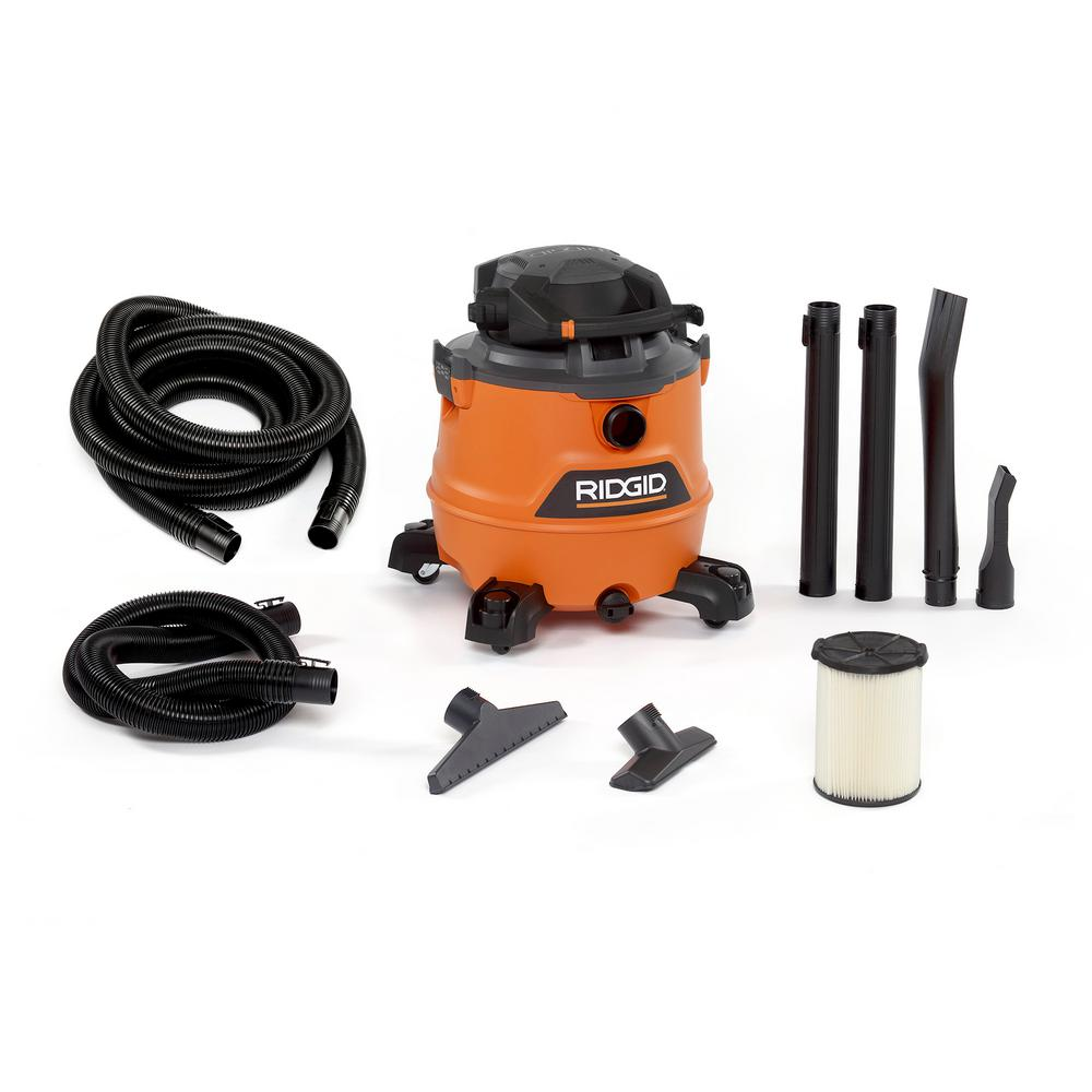 RIDGID 16 Gal. 6.5-Peak HP NXT Wet/Dry Shop Vacuum with Detachable Blower, Filter, 7 ft. Hose, 20 ft. Hose and Accessories