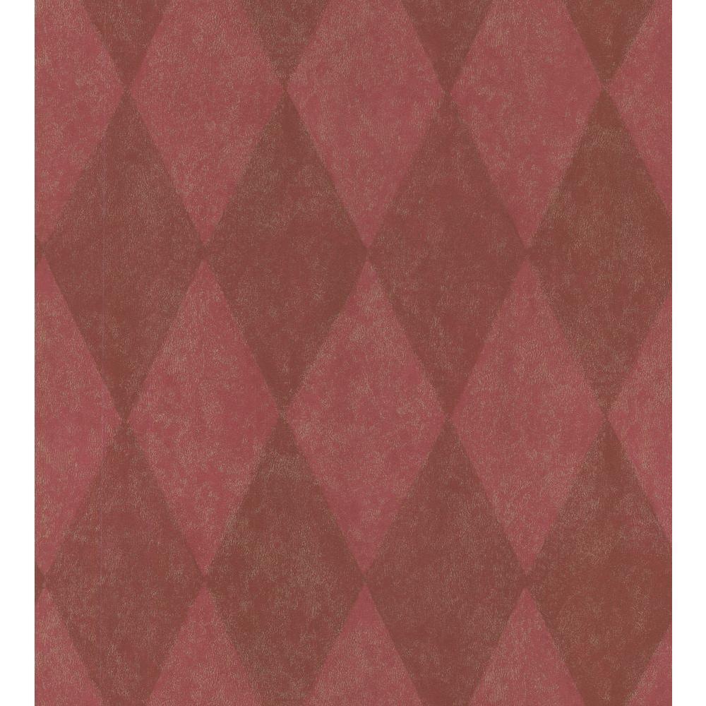 Simple Space Red Harlequin Wallpaper Sample