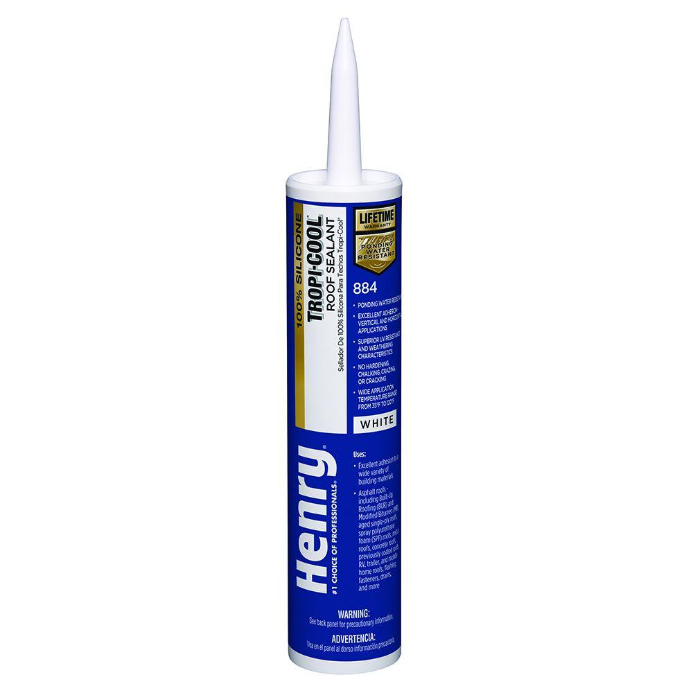 Henry 10.1 oz. 884 Tropi-Cool 100% Silicone Roof Sealant