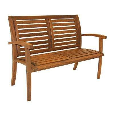 Luxe Eucalyptus Outdoor Bench