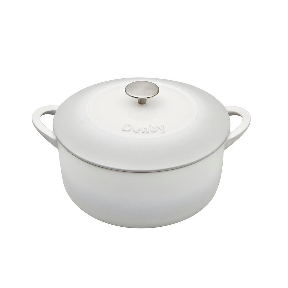 Natural Canvas Cast Iron 5.2 Qt. Round Casserole
