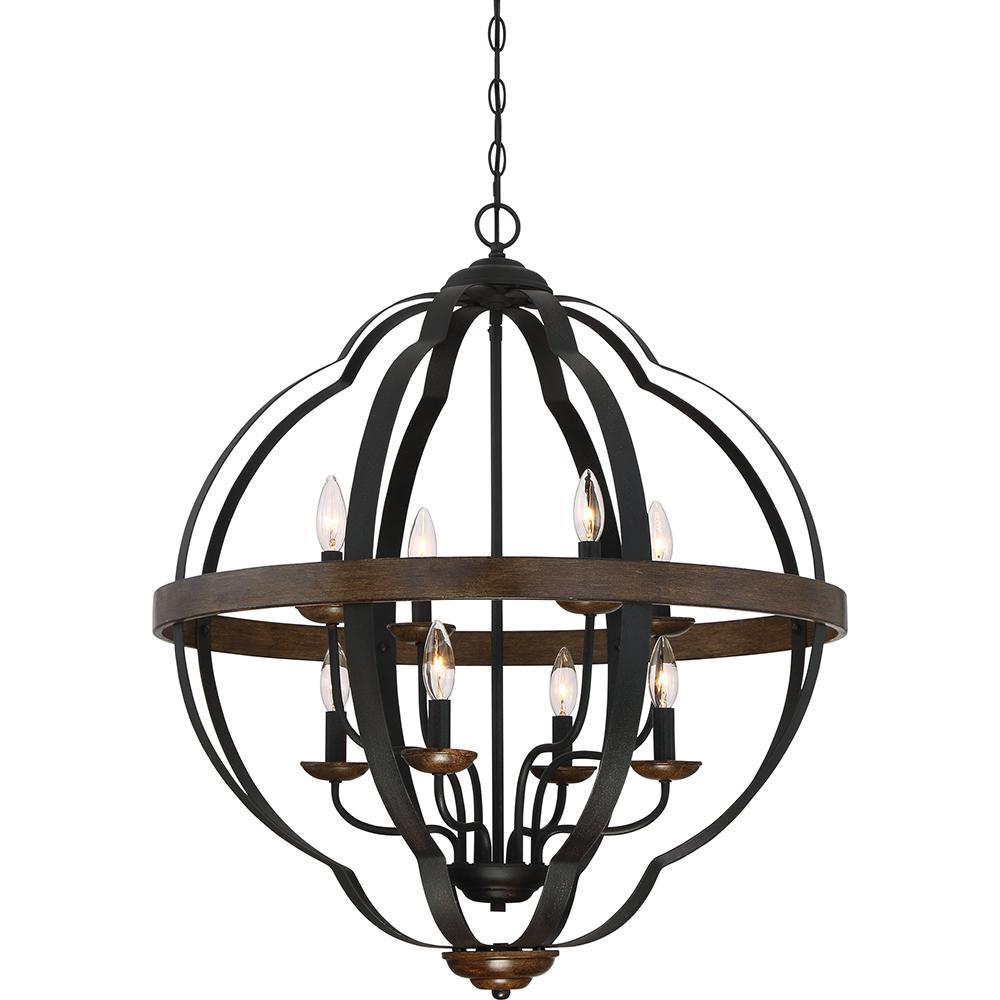 Siren 8-Light Marcado Black Pendant