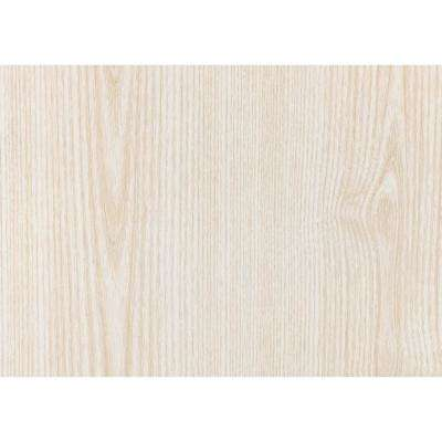 17 in. x 78 in. White Ash Self-Adhesive Decorative Wood Grain PVC Film (2-Pack)