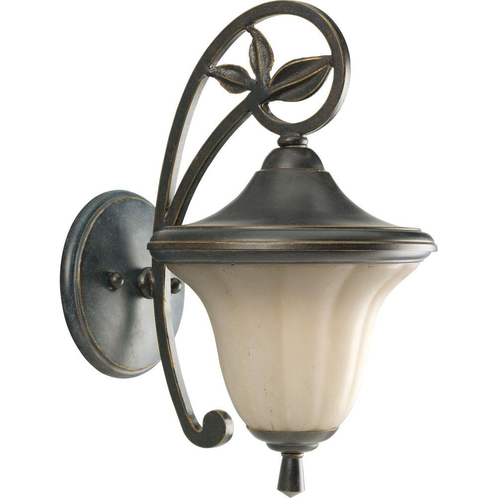 Progress Lighting Le Jardin Collection 1-Light Espresso Wall Lantern