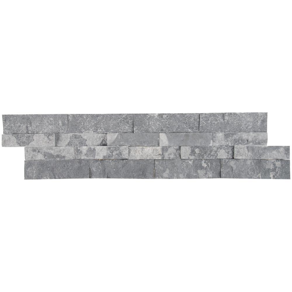 Glacial Grey Splitface Ledger Panel 6 in. x 24 in. Natural