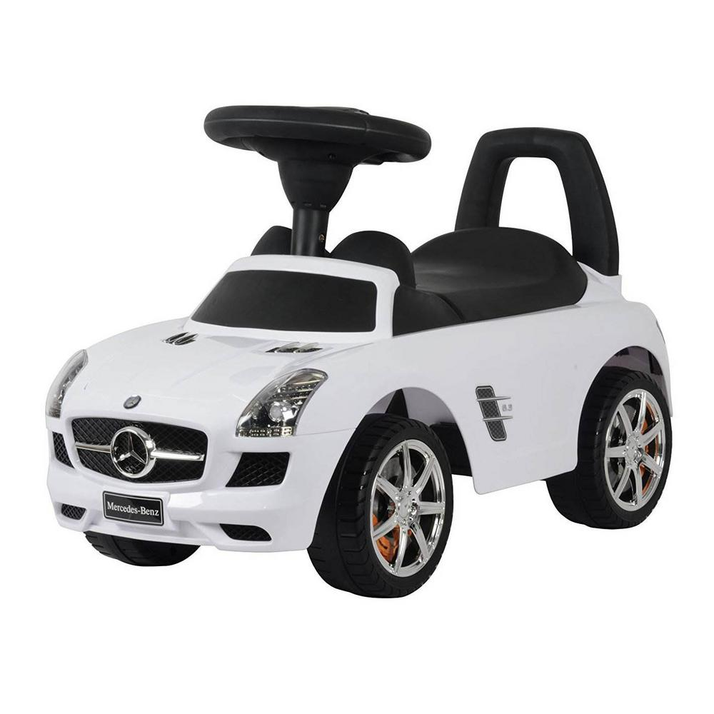 Best Ride On Cars Baby Toddler Ride On Mercedes Benz Push Car With Sounds White Mercedes Push Car White The Home Depot