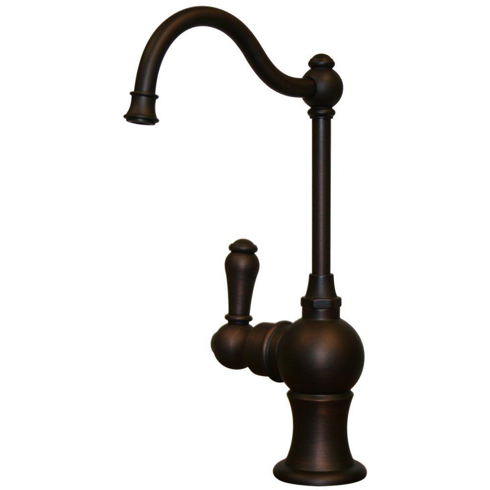 1-Handle Instant Hot Water Dispenser in Mahogany Bronze