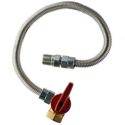 1/2 in.  MIP x 1/2 in.  FIP Angle Valve x 48 in.  Heater Connector 3/8 in O.D.