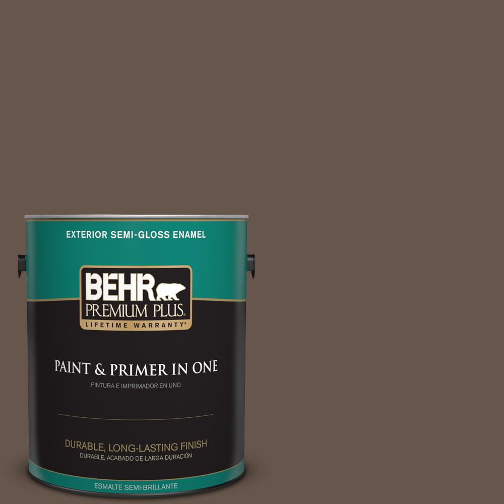 1 gal. #PPU5-18 Chocolate Swirl Semi-Gloss Enamel Exterior Paint