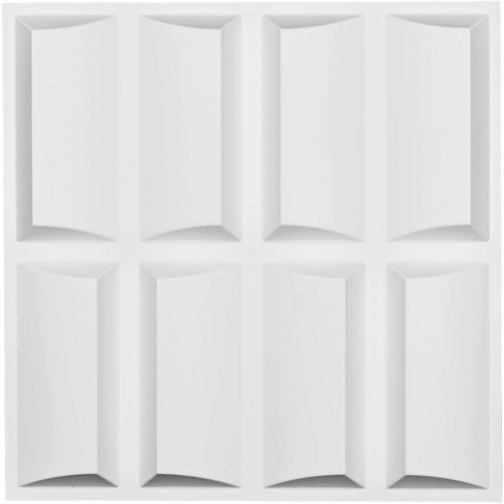 1 in. x 19-5/8 in. x 19-5/8 in. White PVC Robin EnduraWall Decorative 3D Wall Panel