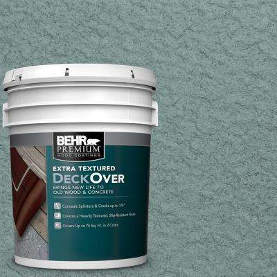 5 gal. #SC-119 Colony Blue Extra Textured Solid Color Exterior Wood and Concrete Coating