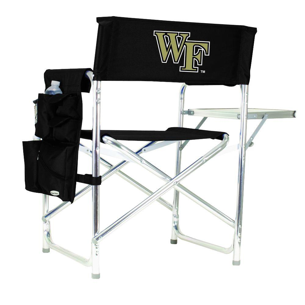 Wake Forest University Black Sports Chair with Digital Logo