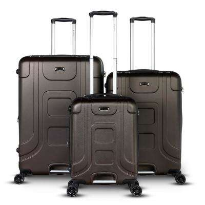 Luca Collection 3-Piece Bronze Expandable Hard-Side Luggage Set
