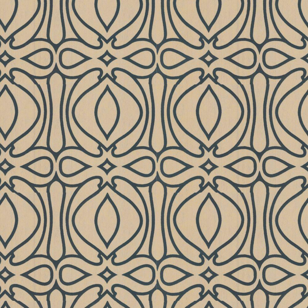 Graham & Brown 56 sq. ft. Baroque Gold Wallpaper