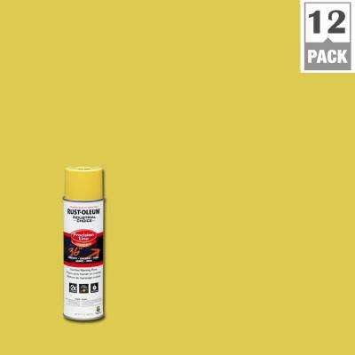 17 oz. M1600 System Precision Line Solvent-Based High Visibility Yellow Inverted Marking Spray Paint (12-Pack)