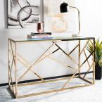 Namiko Clear/Brass Console Table