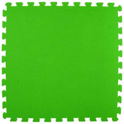 Premium Lime Green 24 in. x 24 in. x 5/8 in. Foam Interlocking Floor Mat (Case of 25)
