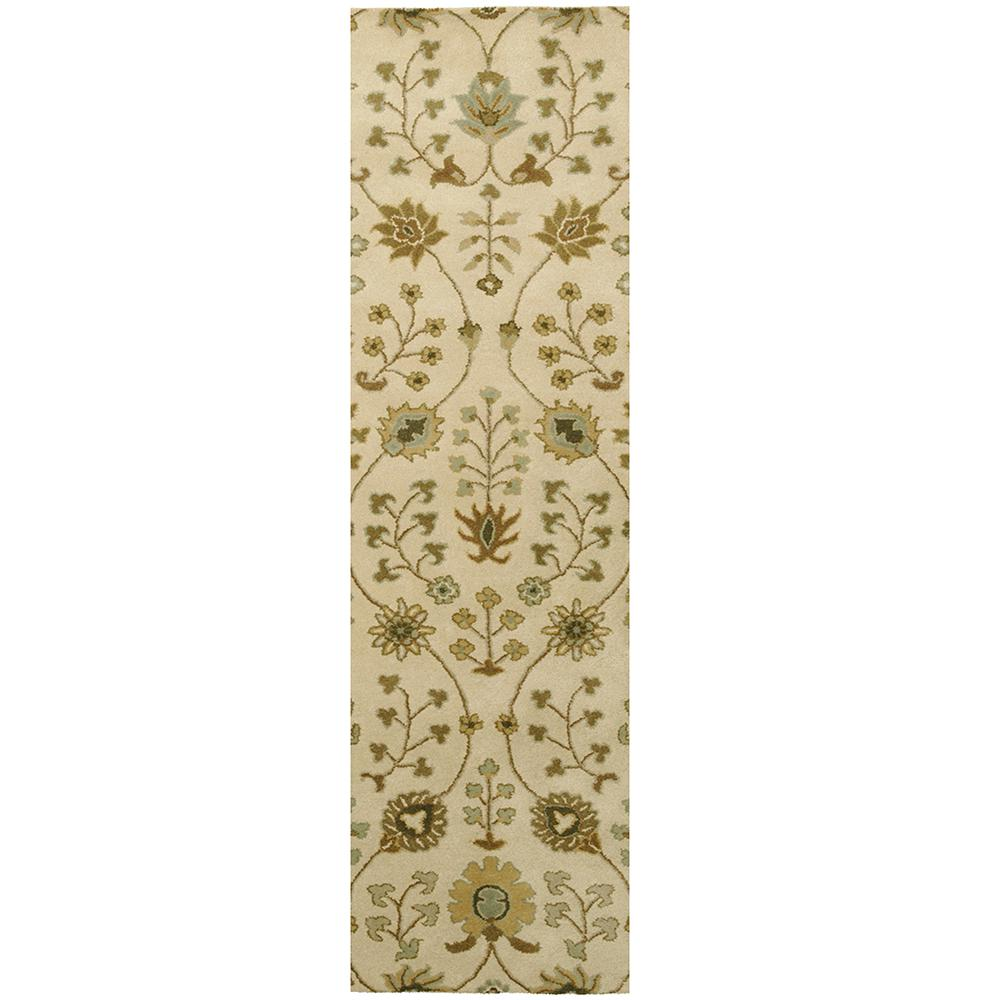 Home Decorators Collection Provencial Cream Wool 3 ft. x 8 ft. Runner Rug