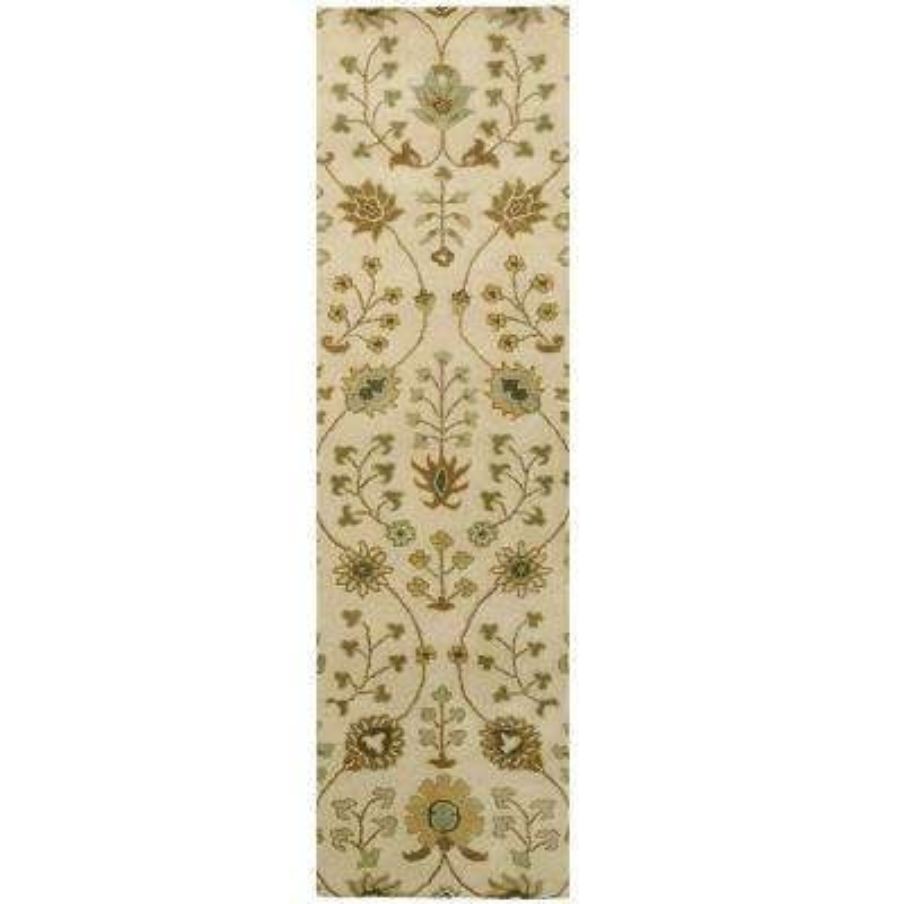 Provencial Cream Wool 3 ft. x 8 ft. Runner Rug