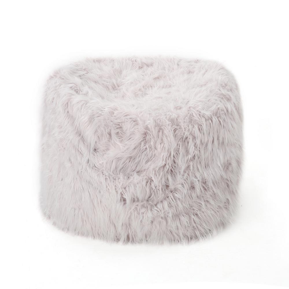 5 ft. Lavender Long Faux Fur Bean Bag