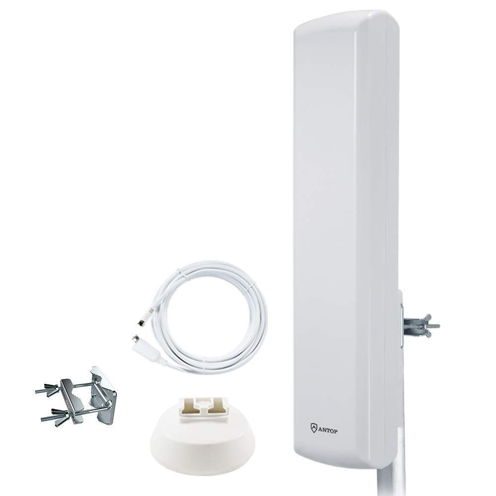 Long Range Digital OTA Antenna for Clear Reception 4K 1080P 2019 New Model Attic//Roof//Window Mount Antenna Range Luxtronic Amplified Indoor//Outdoor Yagi HD Antenna with 80 Mile TV Antenna